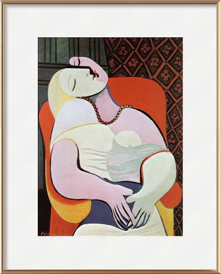 The dream - PABLO PICASSO desde AUX BEAUX-ARTS, Prodi Art, mujer, abstracto, dibujo, pintura, pintura de aceite, PABLO PICASSO, soñar, sueño