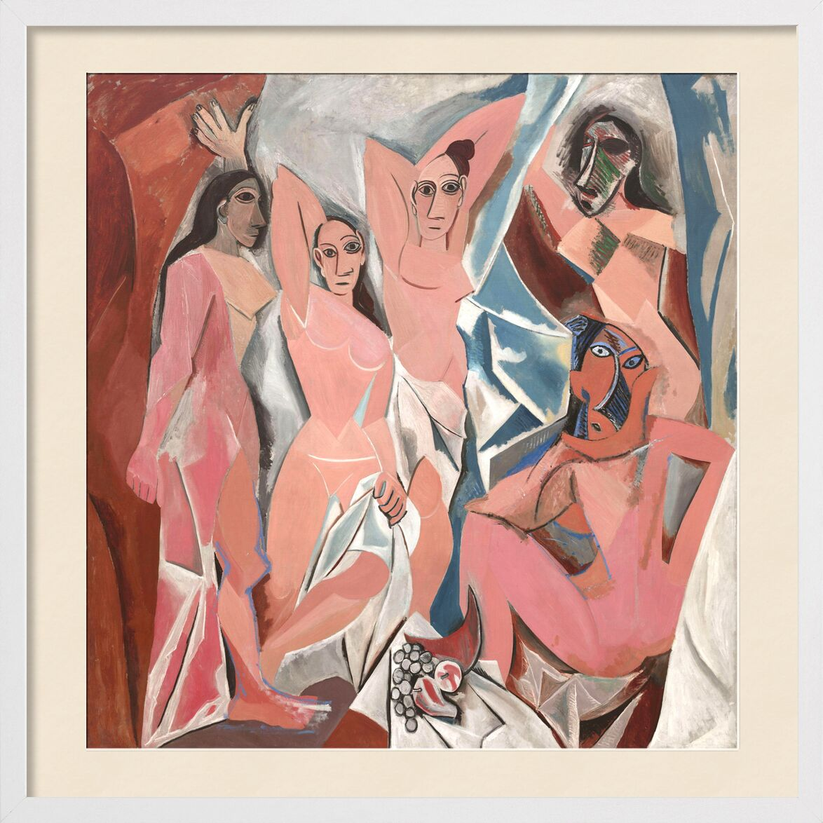 The Ladies of Avignon - PABLO PICASSO von AUX BEAUX-ARTS, Prodi Art, Tabelle, Frauen, Avignon, PABLO PICASSO, abstrakt, Malerei, Zeichnung, Frankreich