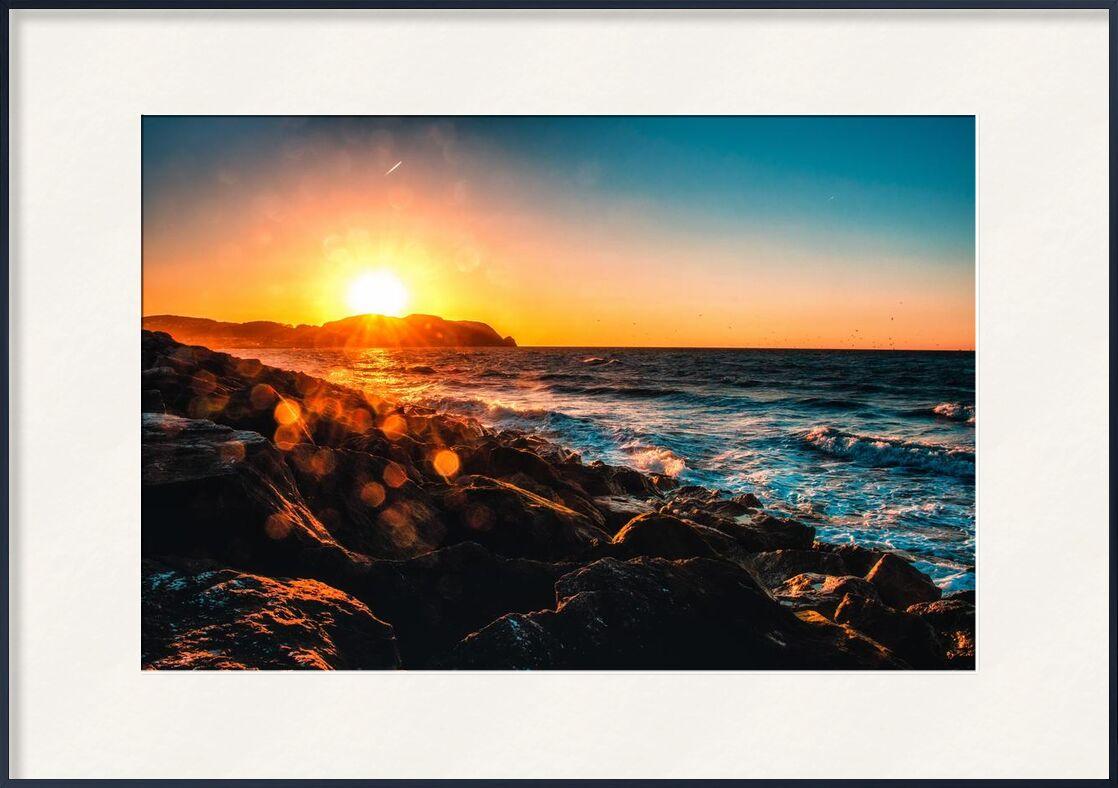 Existence from Aliss ART, Prodi Art, side, dusk, evening, horizon, landscape, ocean, rocks, sea, seascape, seashore, sky, Sun, sun glare, sunset, water, waves, rock formation, rocky, sea side