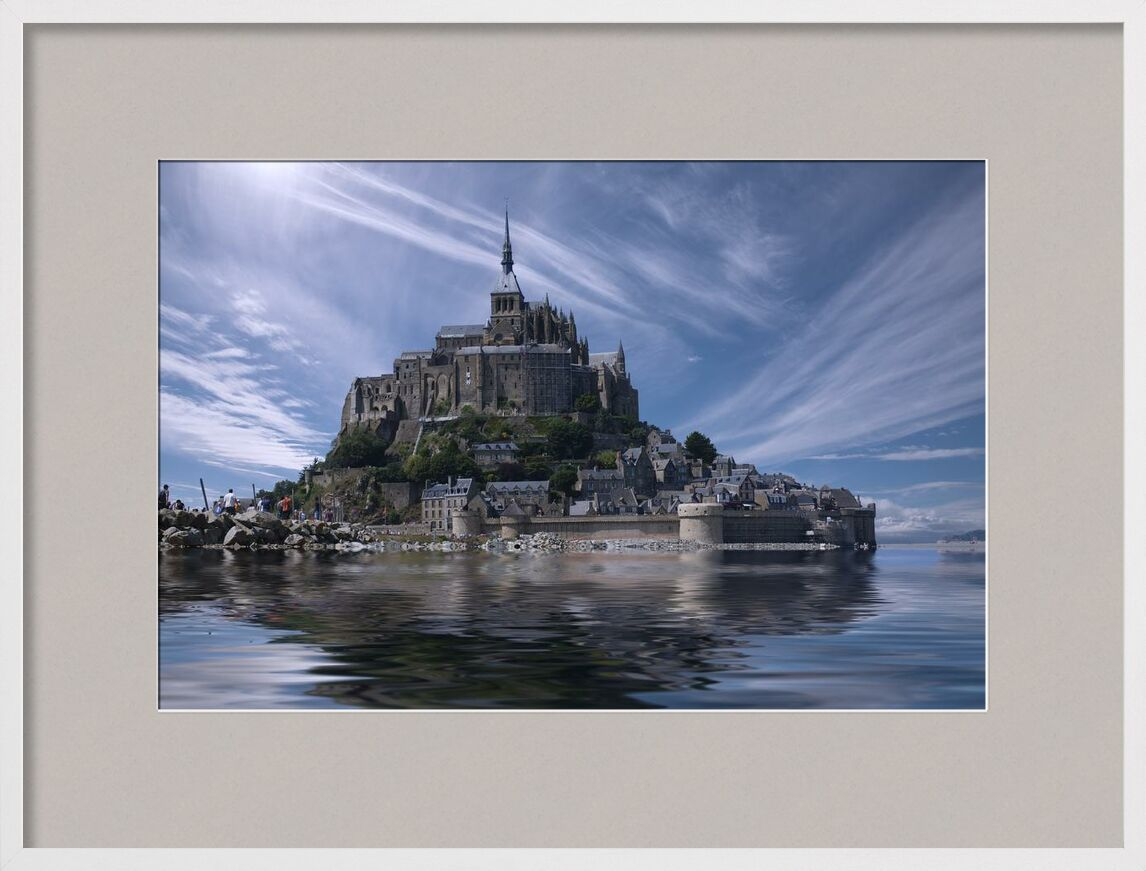 Le Mont-Saint-Michel from Aliss ART, Prodi Art, touristic, Mont Saint Michel, monastery, landmark, historic, gothic, fortress, fort, cathedral, chateau, ancient, water, old, island, France, clouds, church, architecture