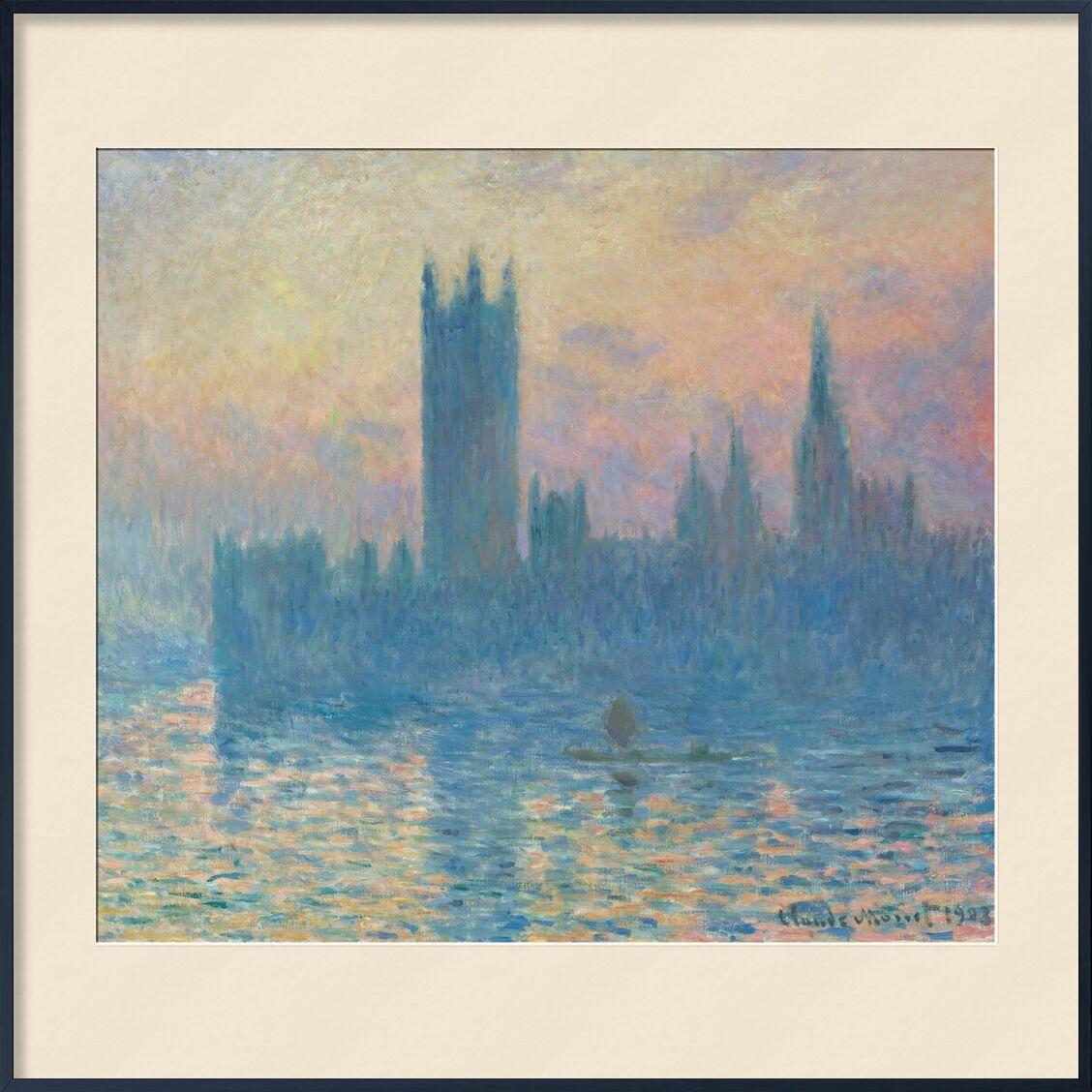 Houses of Parliament, London - CLAUDE MONET 1905 desde AUX BEAUX-ARTS, Prodi Art, CLAUDE MONE, parlamento de Londres, parlamento, capital, Thames, Londres, río