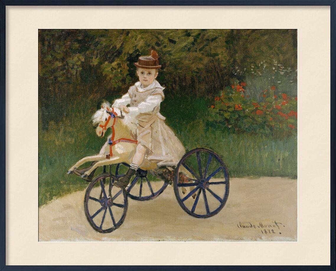 Jean Monet sur son cheval à bascule - CLAUDE MONET 1872 de AUX BEAUX-ARTS, Prodi Art, jeux, jardin d'enfant, cheval à bascule, tricycle, CLAUDE MONET, enfant, voile