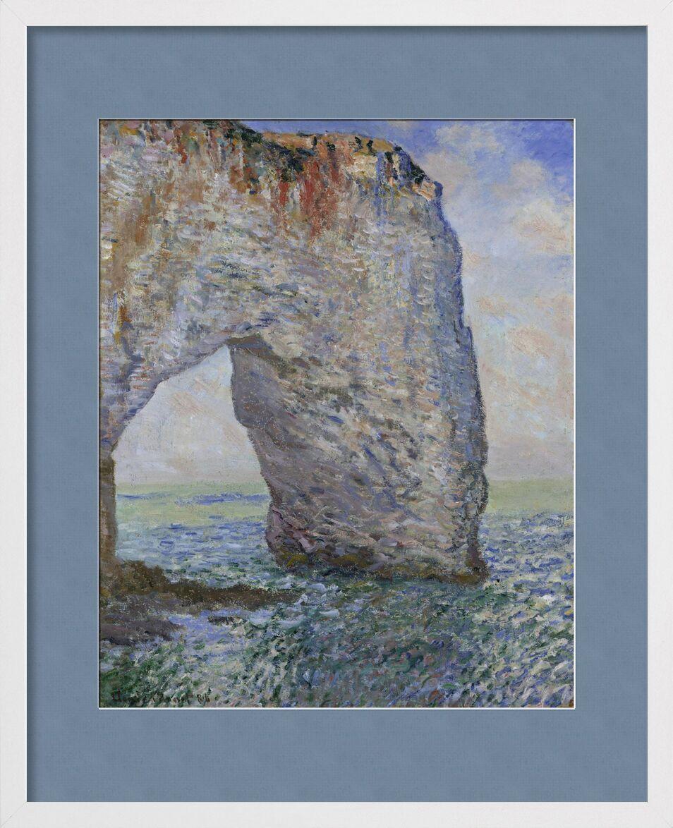 Le Manneporte près d'Étretat - CLAUDE MONET 1886 de Aux Beaux-Arts, Prodi Art, falaise, mer, océan, ciel, plage, vacances, CLAUDE MONET, ciel bleu
