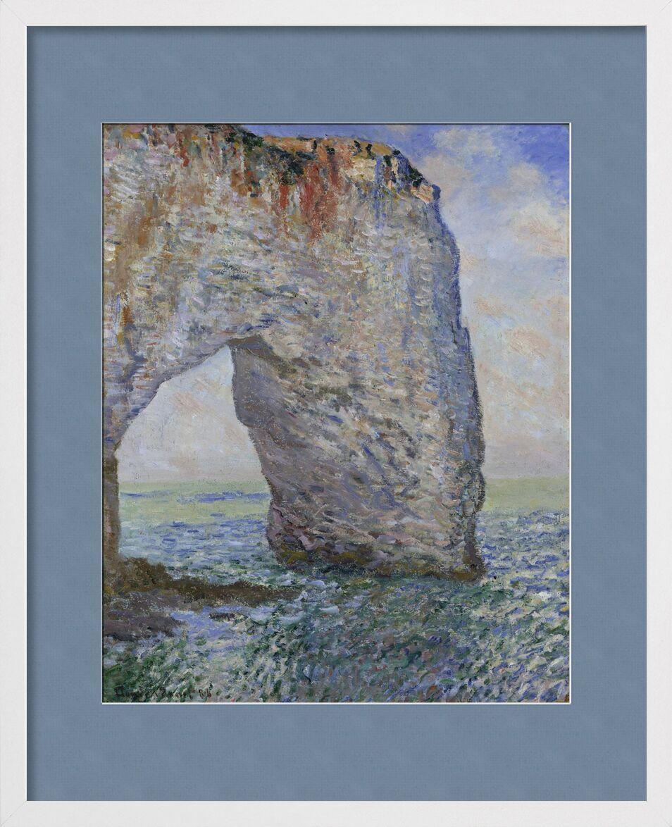 The Manneporte near Étretat - CLAUDE MONET 1886 von AUX BEAUX-ARTS, Prodi Art, blauer Himmel, CLAUDE MONET, Urlaub, Strand, Himmel, Ozean, Meer, Klippe