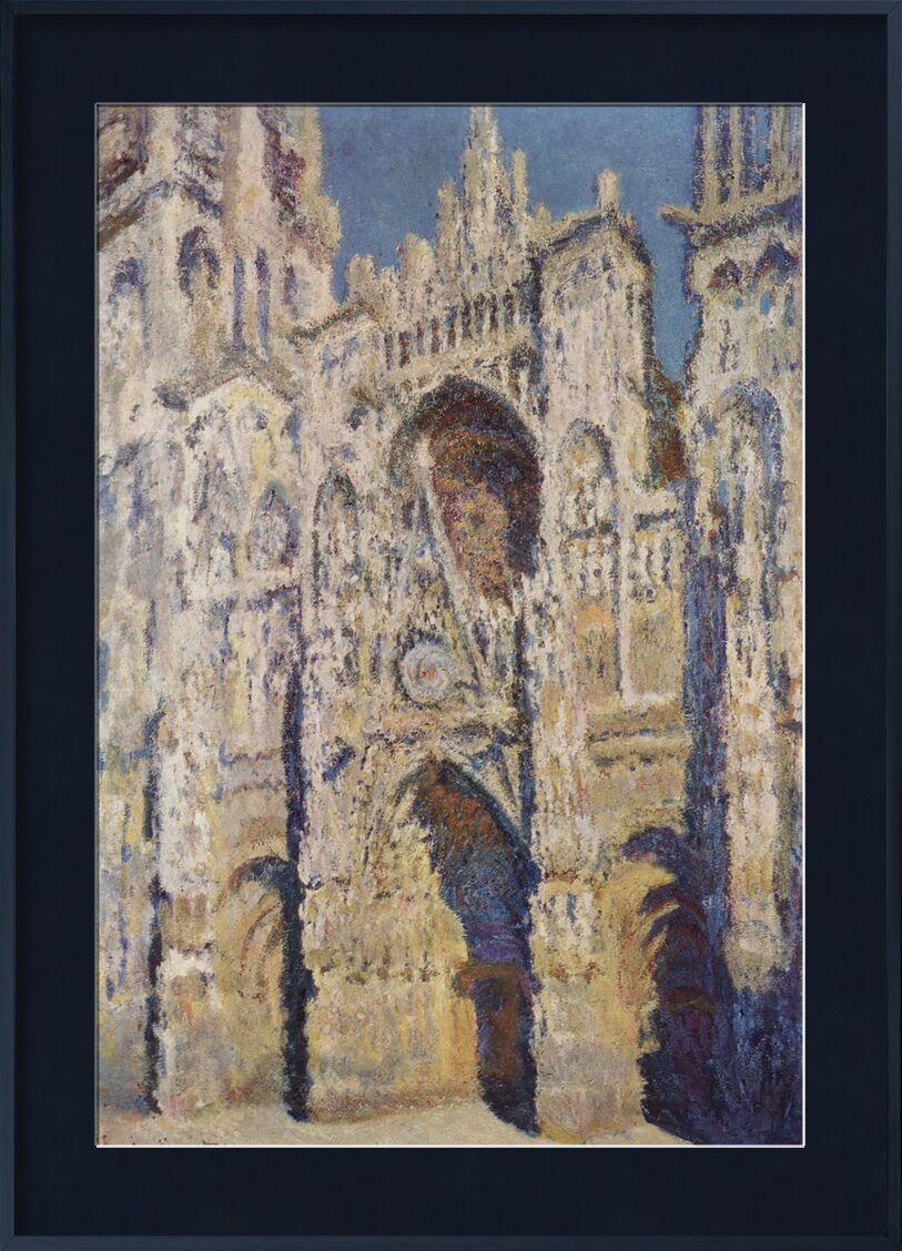 Rouen Cathedral, West Facade, Sunlight - CLAUDE MONET 1894 desde AUX BEAUX-ARTS, Prodi Art, lugar de oración, feria, centro de la ciudad, Rouen, CLAUDE MONET, espiritualidad, domingo, pintura, ciudad, iglesia, catedral, Francia