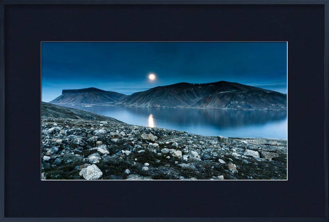 Épanouissement from Aliss ART, Prodi Art, lake, landscape, Moon, mountain, nature, outdoors, rocks, scenic, sky, water