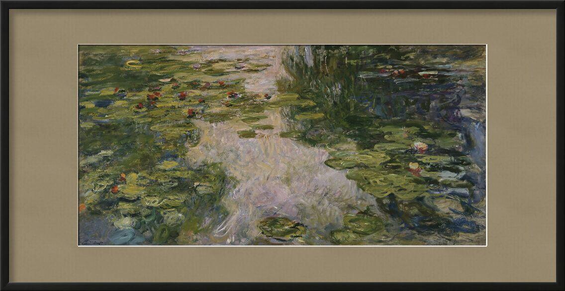 Water Lilies - CLAUDE MONET - 1917 desde AUX BEAUX-ARTS, Prodi Art, bord de lac, CLAUDE MONET, verde, agua, fiesta, playa, lago, naturaleza, ninfómanas