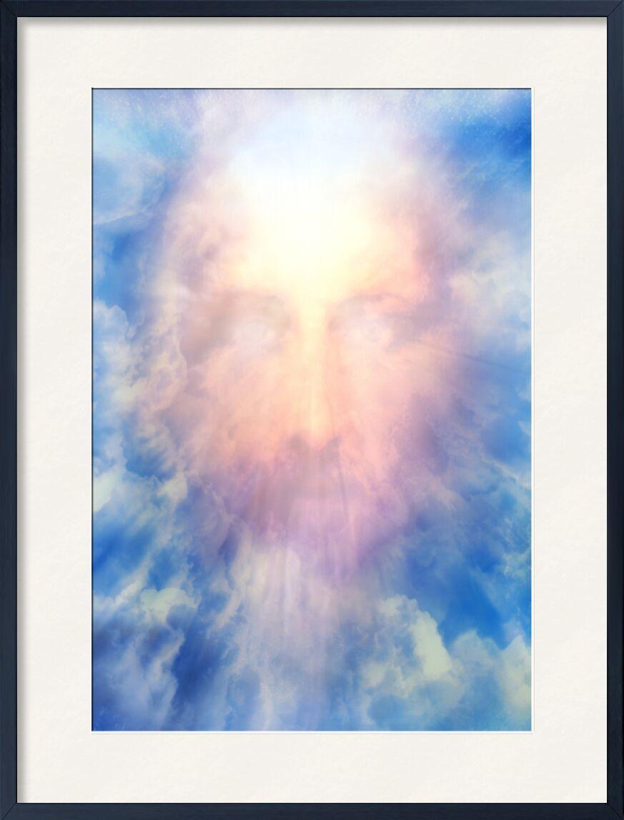Le Messie en gloire de Adam da Silva, Prodi Art, Dieu, royaume, prophète, gloire, messie, Christ, jésus, sourire, paradis, ciel, visage, bleu, nuages