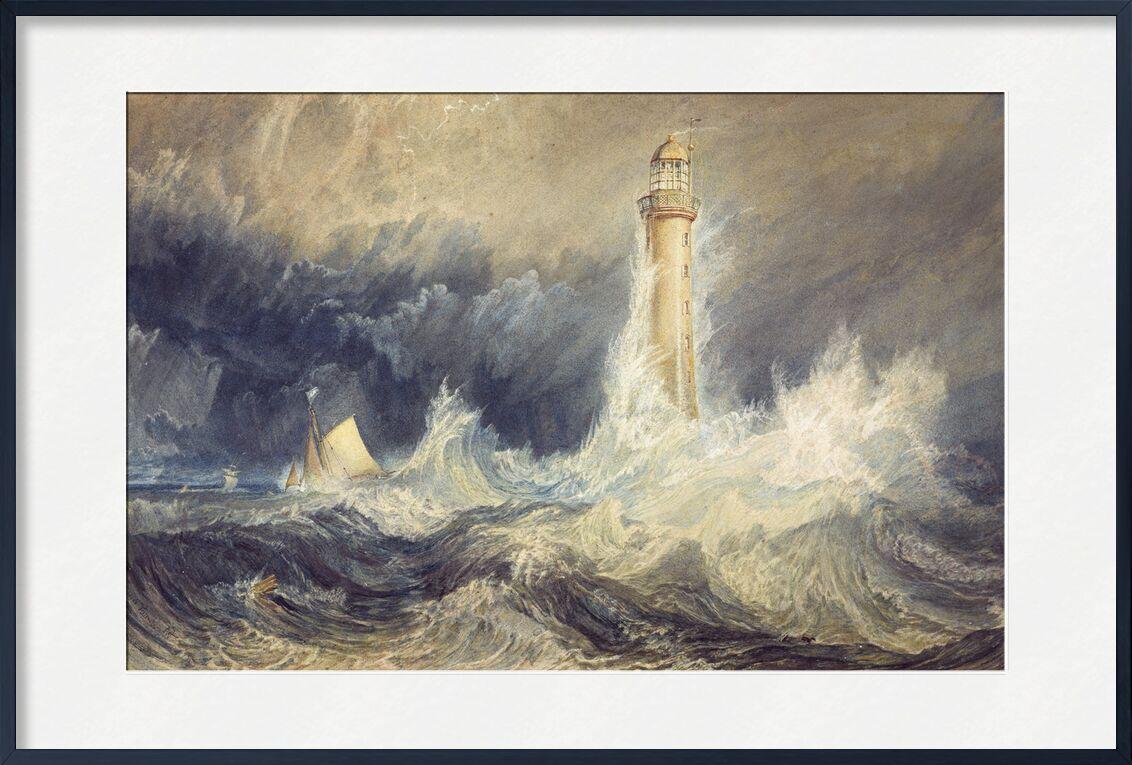 Phare de Bell Rock - WILLIAM TURNER 1824 de Aux Beaux-Arts, Prodi Art, vent violent, lumière de phare, phare, WILLIAM TURNER, peinture, voilier, bateau, vagues, vent, orage, tempête, océan, mer agitée, mer
