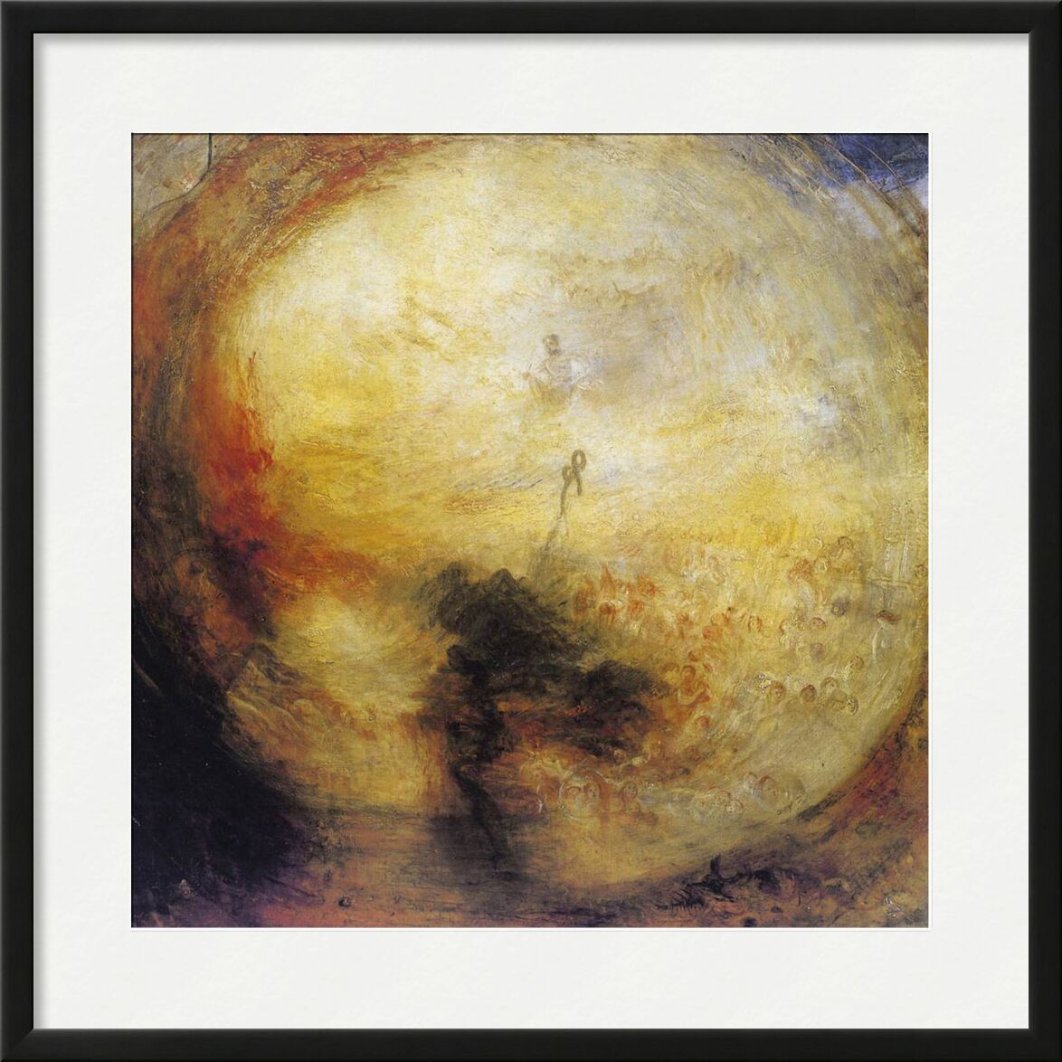The Morning after the Deluge - WILLIAM TURNER 1843 from Aux Beaux-Arts, Prodi Art, Last judgement, revelation, apocalypse, living, soul, downpour, death, storm, God, WILLIAM TURNER, painting