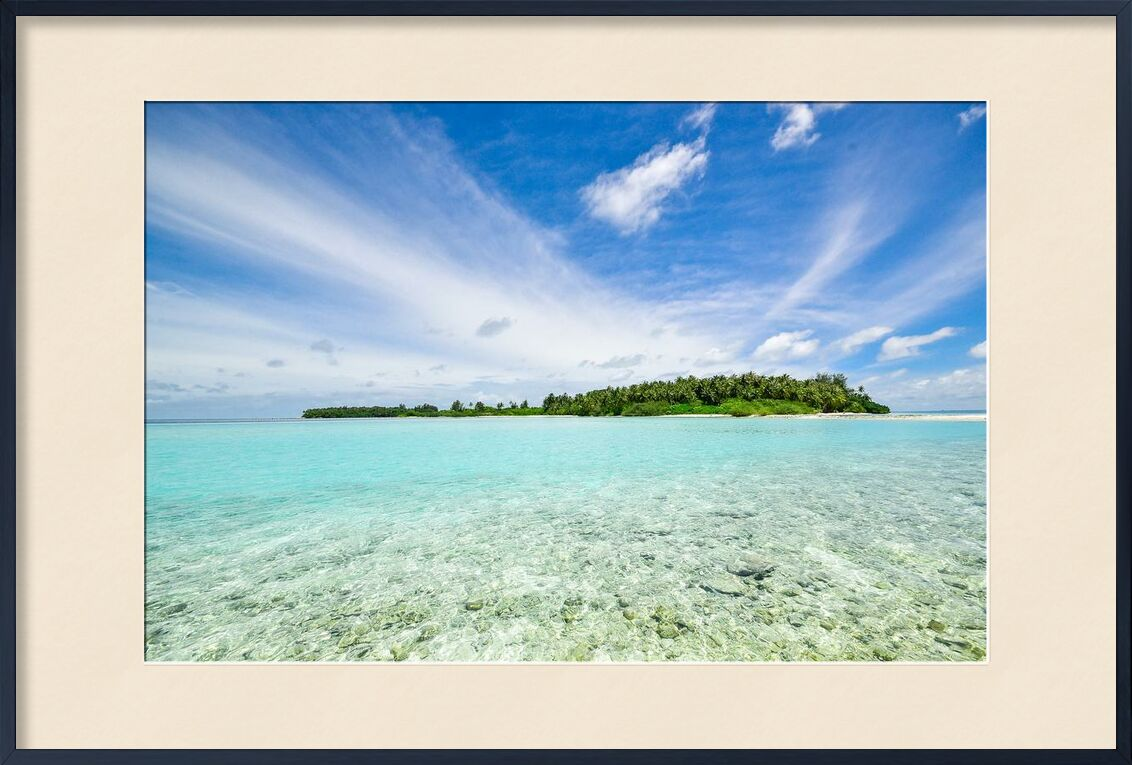 Sur l'île from Aliss ART, Prodi Art, woods, water, tropical, trees, tranquil, sky, sea, scenic, landscape, paradise, ocean, nature, island, idyllic, forest, environment, clouds, beach