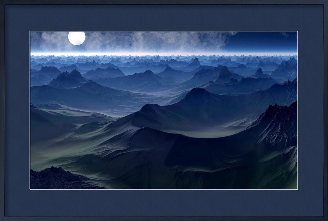 Montagne sur mer de Aliss ART, Prodi Art, vagues, Voyage, soleil, mer, scénique, en plein air, océan, nature, lune, paysage, horizon, haute, pleine lune, soir, crépuscule, Aube, nuages, brillant, Contexte, abstrait
