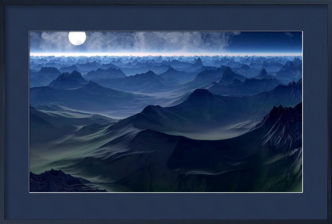 Mountain on sea from Aliss ART, Prodi Art, waves, travel, Sun, sea, scenic, outdoors, ocean, nature, Moon, landscape, horizon, high, full moon, evening, dusk, dawn, clouds, bright, background, abstract