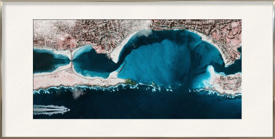 Aerial view from Aliss ART, Prodi Art, from the top, bird's eye view, aerial shot, water, sea, ocean