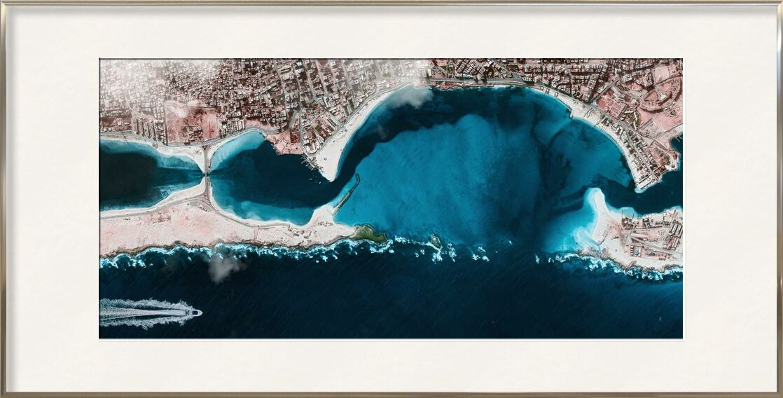 Aerial view from Aliss ART, Prodi Art, ocean, sea, water, aerial shot, bird's eye view, from above