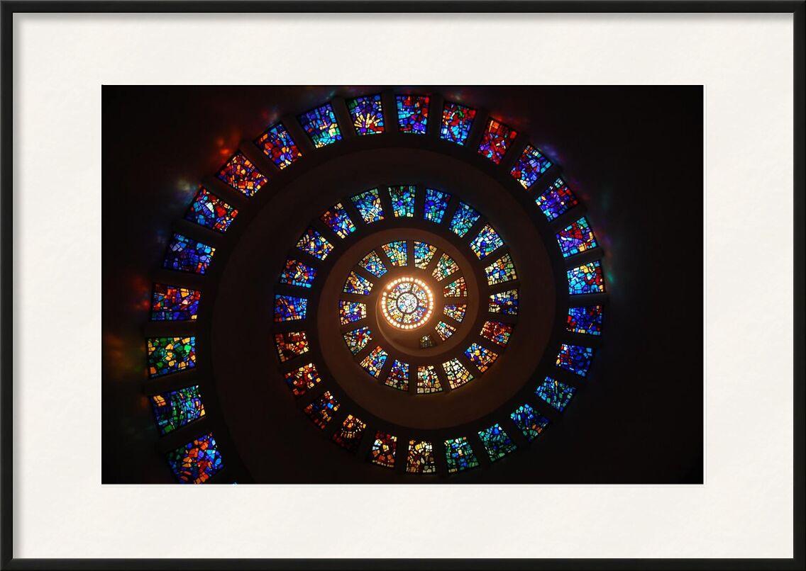 Vitrail de Aliss ART, Prodi Art, vitrail, spirale, modèle, lumière, Couleur, art, architecture