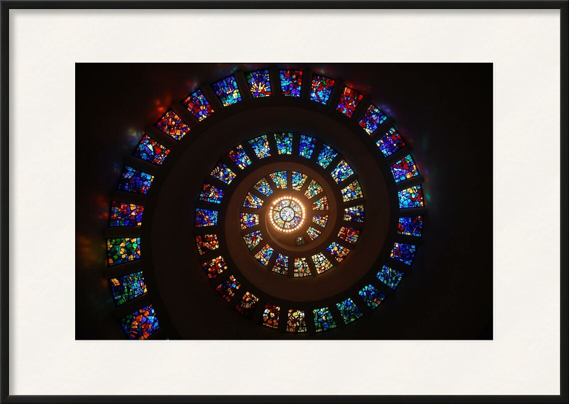 Stained glass from Aliss ART, Prodi Art, architecture, art, colorful, colourful, light, pattern, spiral, stained glass