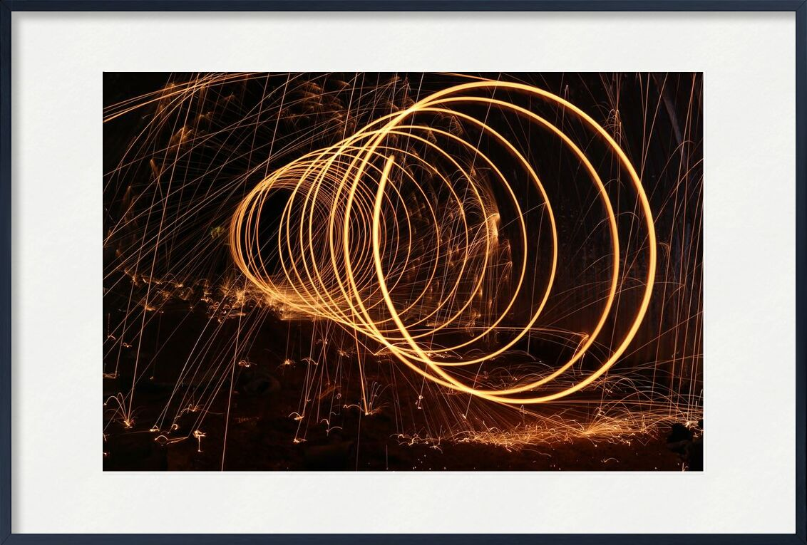 Étincelles from Aliss ART, Prodi Art, dark, lights, night, time lapse, sparks