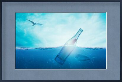 A bottle in the sea from Pierre Gaultier, Prodi Art, Art photography, Framed artwork, Prodi Art