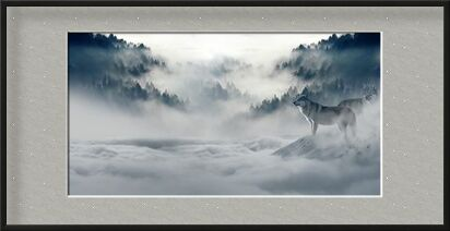 Solitary Wolves from Pierre Gaultier, VisionArt, Art photography, Framed artwork, Prodi Art
