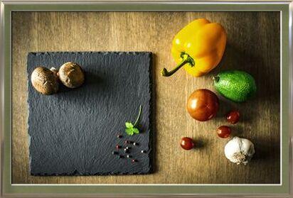 Plan de travail & légumes de Pierre Gaultier, Prodi Art, Photographie d'art, Œuvre encadrée, Prodi Art