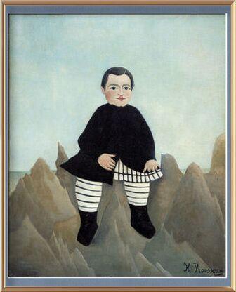 Garçon sur un Rocher de AUX BEAUX-ARTS, Prodi Art, Photographie d'art, Œuvre encadrée, Prodi Art