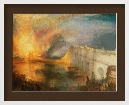 The Burning of the Houses of Lords and Commons - WILLIAM TURNER 1834 from Aux Beaux-Arts, Prodi Art, Art photography, Framed artwork, Prodi Art