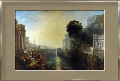 Didon construisant Carthage - WILLIAM TURNER 1815 de Aux Beaux-Arts, Prodi Art, Photographie d'art, Œuvre encadrée, Prodi Art