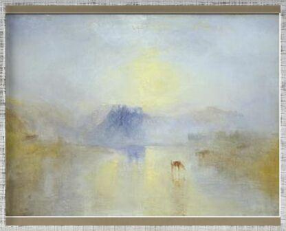 Norham Castle, Sunrise - WILLIAM TURNER 1845 from Aux Beaux-Arts, Prodi Art, Art photography, Framed artwork, Prodi Art
