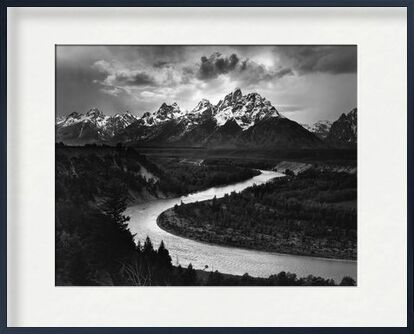 Snake River, Las Cruces, ANSEL ADAMS 1942 from Aux Beaux-Arts, Prodi Art, Art photography, Framed artwork, Prodi Art