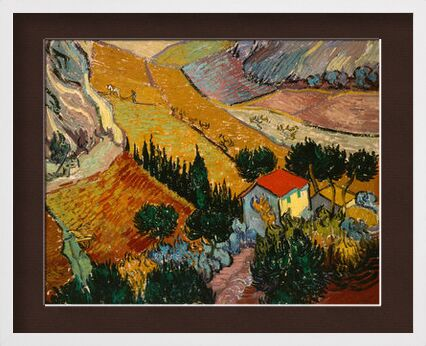 Landscape with House and Ploughman - VINCENT VAN GOGH 1889 from Aux Beaux-Arts, Prodi Art, Art photography, Framed artwork, Prodi Art
