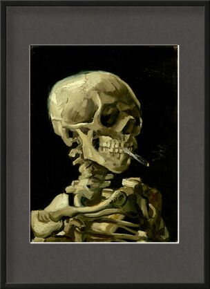 Head of a Skeleton with a Burning Cigarette - VINCENT VAN GOGH from Aux Beaux-Arts, Prodi Art, Art photography, Framed artwork, Prodi Art