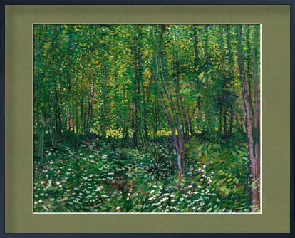 Trees and undergrowth - VINCENT VAN GOGH 1887 from Aux Beaux-Arts, Prodi Art, Art photography, Framed artwork, Prodi Art