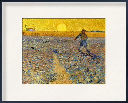 Sower at Sunset - VINCENT VAN GOGH 1888 from Aux Beaux-Arts, Prodi Art, Art photography, Framed artwork, Prodi Art