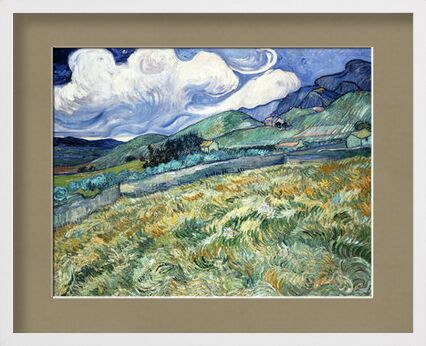 Landscape at Saint-Rémy - VINCENT VAN GOGH 1889 from Aux Beaux-Arts, Prodi Art, Art photography, Framed artwork, Prodi Art