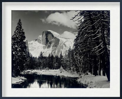 Half dome merced river winter Yosemite ANSEL ADAMS 1938 from Aux Beaux-Arts, VisionArt, Art photography, Framed artwork, Prodi Art