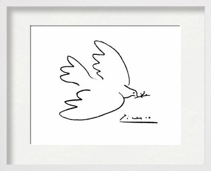 Dove of peace - PABLO PICASSO from Aux Beaux-Arts, VisionArt, Art photography, Framed artwork, Prodi Art