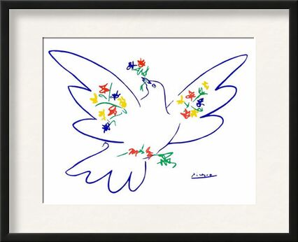 Dove of peace - PABLO ICASSO from Aux Beaux-Arts, VisionArt, Art photography, Framed artwork, Prodi Art