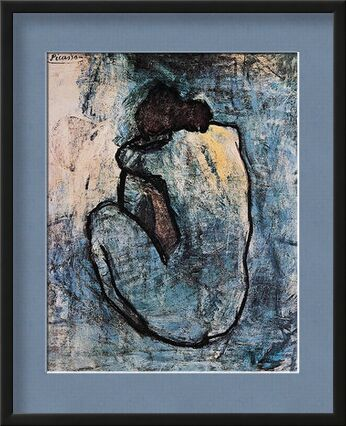 Blue nude - PABLO PICASSO from Aux Beaux-Arts, VisionArt, Art photography, Framed artwork, Prodi Art