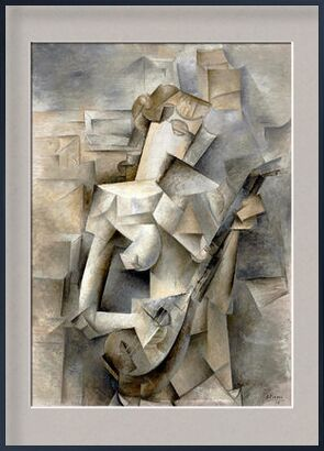 Girl with a Mandolin - Pablo Picasso 1910 from Aux Beaux-Arts, Prodi Art, Art photography, Framed artwork, Prodi Art