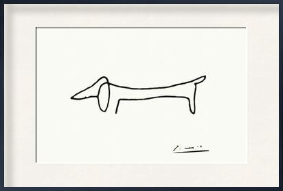 The dog - PABLO PICASSO from Aux Beaux-Arts, VisionArt, Art photography, Framed artwork, Prodi Art