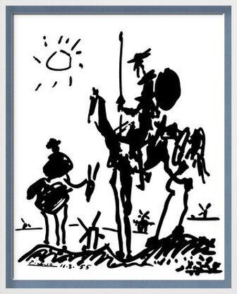 Don Quichotte - PABLO PICASSO de AUX BEAUX-ARTS, Prodi Art, Photographie d'art, Œuvre encadrée, Prodi Art