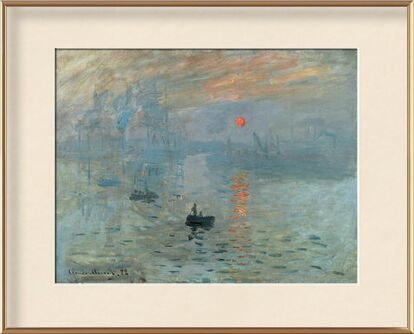 Impression, Sunrise 1872 - CLAUDE MONET from Aux Beaux-Arts, Prodi Art, Art photography, Framed artwork, Prodi Art