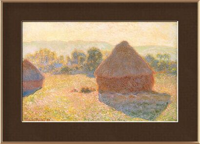 Haystacks, middle of the day - CLAUDE MONET 1891 from Aux Beaux-Arts, Prodi Art, Art photography, Framed artwork, Prodi Art