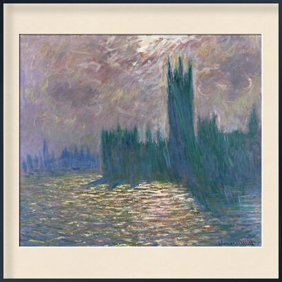 Houses of Parliament, London - CLAUDE MONET 1905 from Aux Beaux-Arts, Prodi Art, Art photography, Framed artwork, Prodi Art