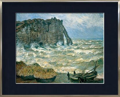 Stormy Sea in Étretat - CLAUDE MONET 1883 from Aux Beaux-Arts, Prodi Art, Art photography, Framed artwork, Prodi Art