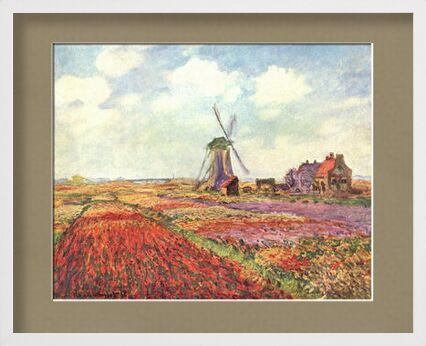 Tulip fields in Holland - CLAUDE MONET 1886 from Aux Beaux-Arts, Prodi Art, Art photography, Framed artwork, Prodi Art