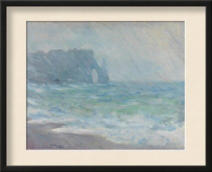 Étretat in the rain - CLAUDE MONET 1886 from Aux Beaux-Arts, Prodi Art, Art photography, Framed artwork, Prodi Art