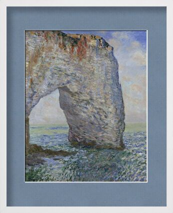 The Manneporte near Étretat - CLAUDE MONET 1886 from Aux Beaux-Arts, Prodi Art, Art photography, Framed artwork, Prodi Art