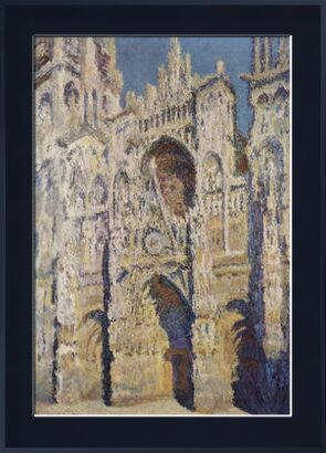 Rouen Cathedral, West Facade, Sunlight - CLAUDE MONET 1894 from Aux Beaux-Arts, Prodi Art, Art photography, Framed artwork, Prodi Art